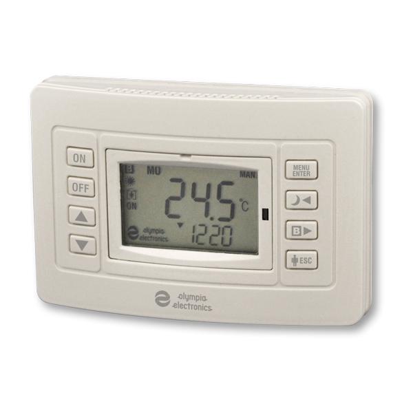 Θερμοστάτης Χώρου Προγραμματιζόμενος Ηλεκτρονικός Olympia Electronics  BS-812 Θερμοστάτες 8e9506325b0