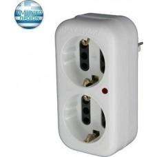 Αντάπτορ προστασίας από υπέρταση για ηλεκτρονικές συσκευές με 2 σούκο ή 4 διπολικές | Ηλεκτροτεχνική Χαραλαμπίδης | 51301